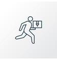delivery man icon line symbol premium quality vector image