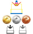 Different medals for unbalance bars vector image vector image