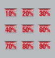 discount labels with percents vector image vector image