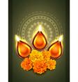 diwali diya festival vector image vector image