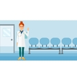 Doctor showing sign ok vector image vector image