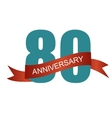 Eighty 80 Years Anniversary Label Sign for your vector image vector image