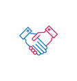 elections handshake outline colored icon can be vector image vector image