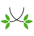 Environmental logo vector image vector image