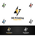 fast 3d printing company logo design for media