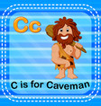 flashcard letter c is for caveman vector image vector image