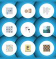 flat icon play set of labyrinth ace mahjong and vector image vector image