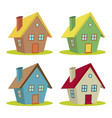 four houses vector image vector image