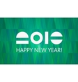 Green 2016 New Year Banner vector image vector image