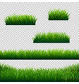 green grass borders big collection transparent vector image vector image