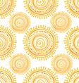 Hand drawn ethnic sun vector image