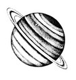 hand drawn saturn planet vector image vector image