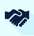 handshake icon flat style for vector image vector image