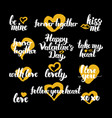 happy valentine day hand drawn quotes vector image vector image