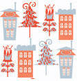 houses abstract modern seamless pattern it is vector image