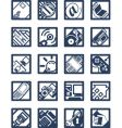 internet computer icons vector image vector image