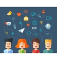 isolated flat design people social network compo vector image vector image