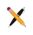 isolated pencil and pen design vector image vector image