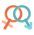 male and female gender signs icon isolated vector image vector image