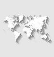 map of world modern flat design with vector image vector image