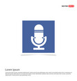 microphone icon - blue photo frame vector image
