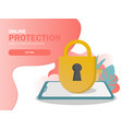 mobile security data protection concept modern vector image