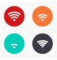 modern wi fi colorful icons set vector image