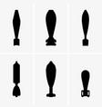 mortar shells vector image vector image