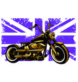 motorbike and british flag and motorbike vector image vector image