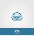 octo food - sea food logo vector image vector image