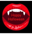 Open mouth of vampire woman vector image vector image