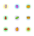 Pack icons set pop-art style vector image vector image