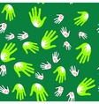 Palms hands seamles pattern 660 vector image vector image