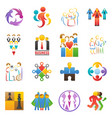 people team icons abstract group set vector image
