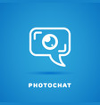 photo chat vector image vector image