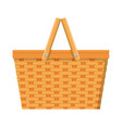 picnic basket isolated icon vector image