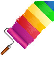 roller for painting with a colorful track vector image vector image