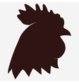 Rooster head icon vector image vector image