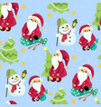 seamless christmas pattern in graphic with cute vector image vector image