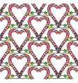 Seamless heart pattern3 vector image