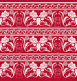 seamless pattern with flowers and a dogs head in vector image vector image
