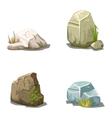 Set of cartoon stones vector image