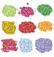 Set of glitter colorful blots vector image