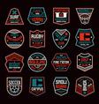 set sports badges vector image vector image