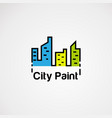 simple city color logo icon element and template vector image vector image