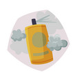 spray bottle spraying with toxic cloud air vector image