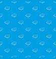 stilt house pattern seamless blue vector image vector image