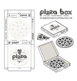 Stock design of boxes for pizza vector image vector image