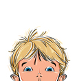 Surprised cute little boy vector image