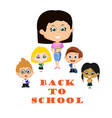 teacher with pupils vector image vector image